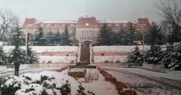 老照片:1980年代的青島雪景