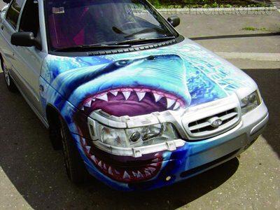 超强眼创意汽车彩绘