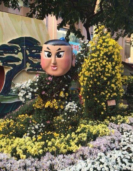 广州菊花展 葫芦娃造型