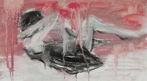 青岛女画家每天一张小油画 绘画日记本周展出
