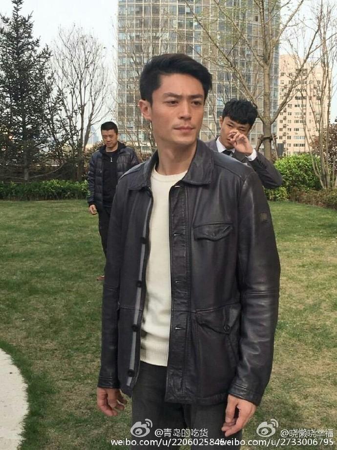 秦海璐搭档霍建华青岛拍戏