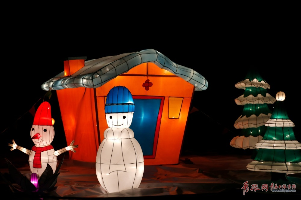 这个春节,青岛西海岸生态观光园花灯节,约吗?(陈秀华 摄)