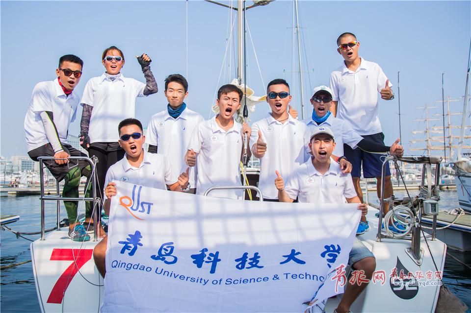 青島科技大學的學生們