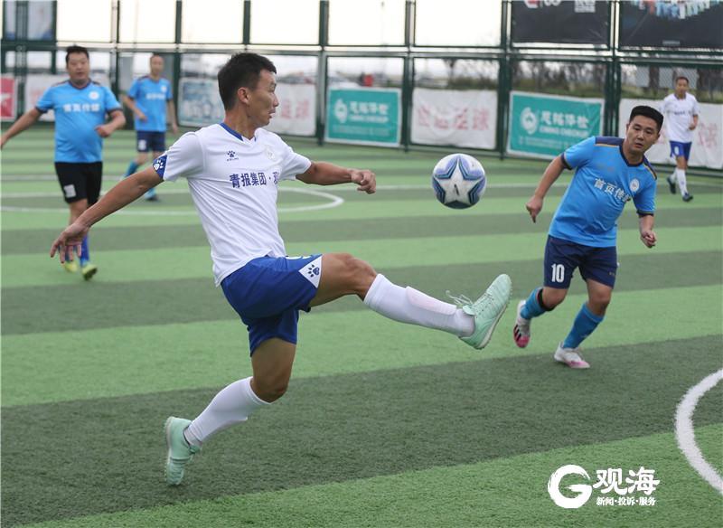 观海新闻5球横扫首页传媒,昂首晋级青岛GRS媒体记者足球联赛决赛
