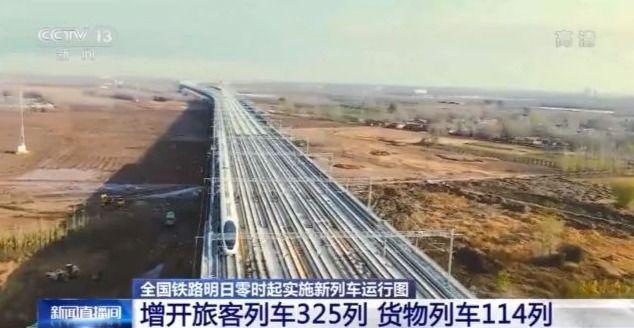 最新全國鐵路列車運行圖來了!增開旅客列車325列
