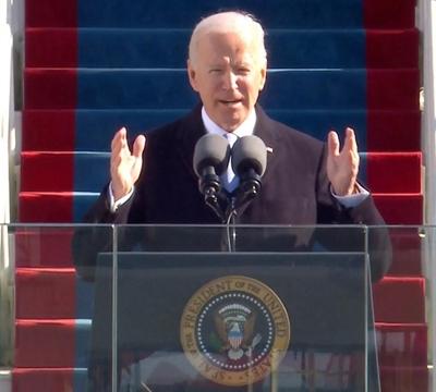 拜登宣誓就任美國第46任總統