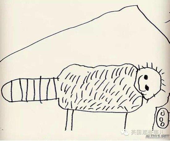 老爸把6岁儿子的简笔画P成现实版,这炸裂的画风
