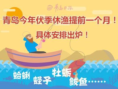 青島今年伏季休漁提前一個月!具體安排出爐!