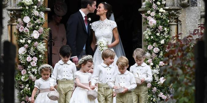 凯特王妃妹妹大婚 小王子小公主当花童