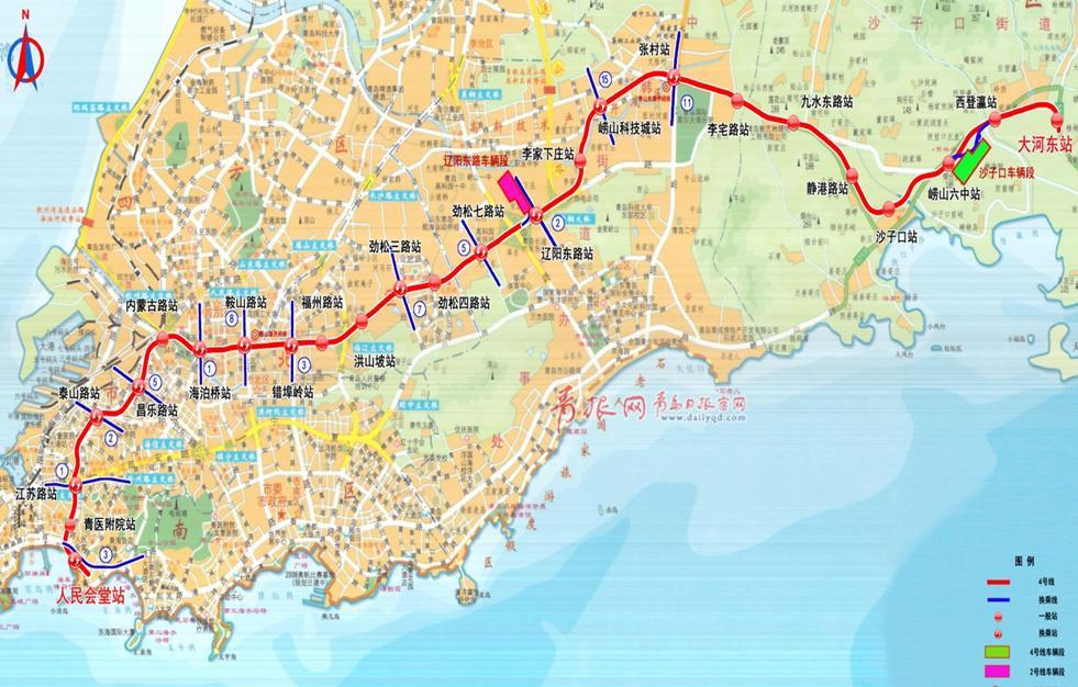 青岛地铁4号线路线图