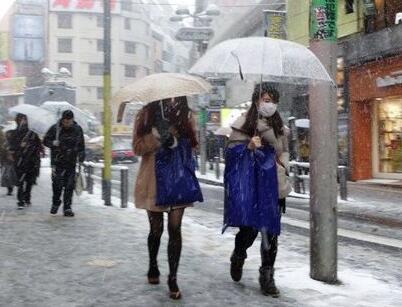 日本首都圈遭遇严寒 电力公司呼吁节约用电