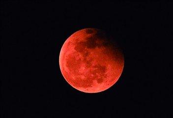31号有月全食奇观 我国绝大部分地区可赏红月亮