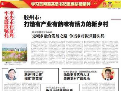 胶州市:打造有产业有韵味有活力的新乡村