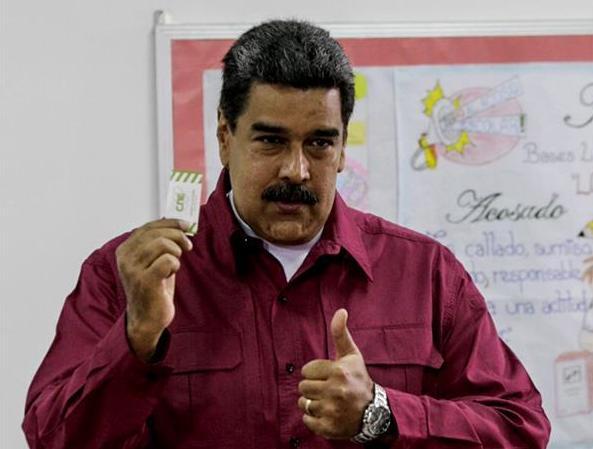 委内瑞拉大选结果揭晓 现任总统马杜罗获连任