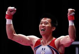 中国台北选手李智凯获体操男子鞍马金牌