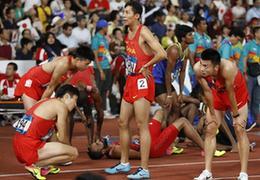 """男子接力队:成绩能接受 努力训练迎""""大考"""""""