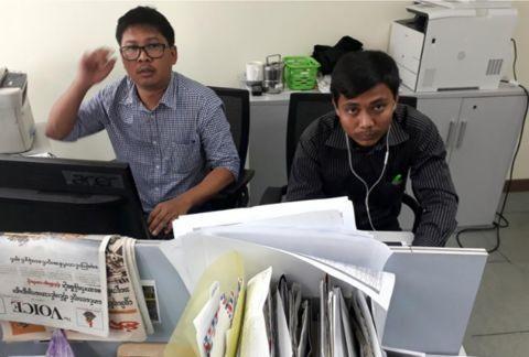 缅甸法院以违反保密法判处路透社两记者7年监禁