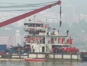 重庆坠江公交车黑匣子打捞出水 开始布场调试打捞设备
