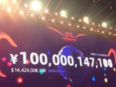 又创新纪录!今年天猫双11成交破千亿仅用1小时47分