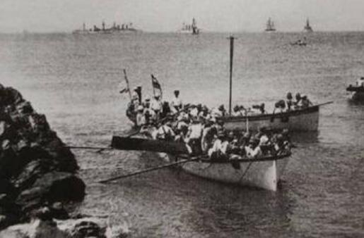 121年前的今天,清晨7點,德軍登陸棧橋!