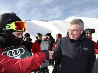 国际奥委会主席巴赫考察冬奥场馆 为中国效率点赞