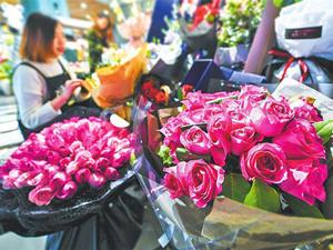 青岛情人节有人1888元买花,市立医院收花最多!