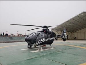 试车成功!中国通航首架直升机转场平度通用机场