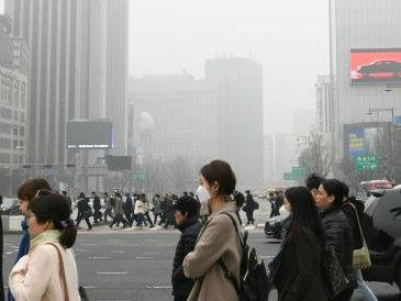 韩国遭雾霾侵袭 首都圈首次连续5天启动微尘减排措施