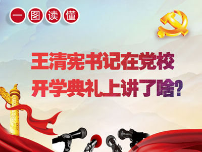 一图读懂〡王清宪书记在党校开学典礼上讲了啥?