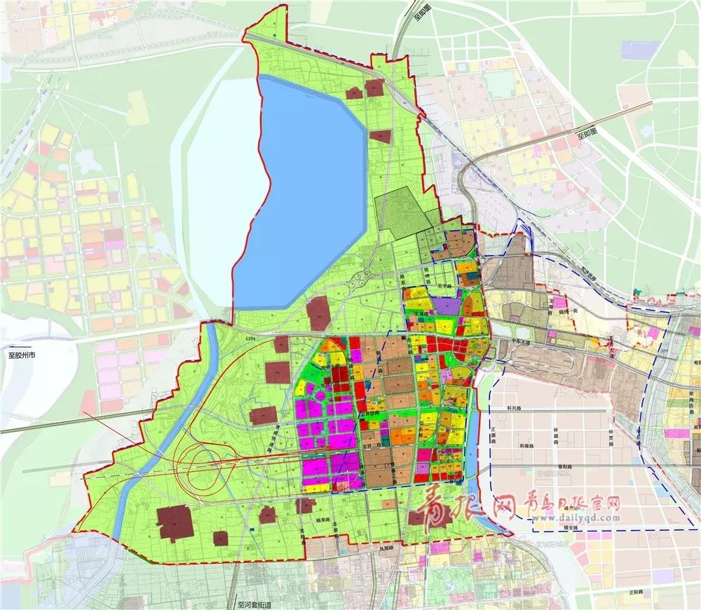 土地利用规划图.(来源:青岛市自然资源和规划局)