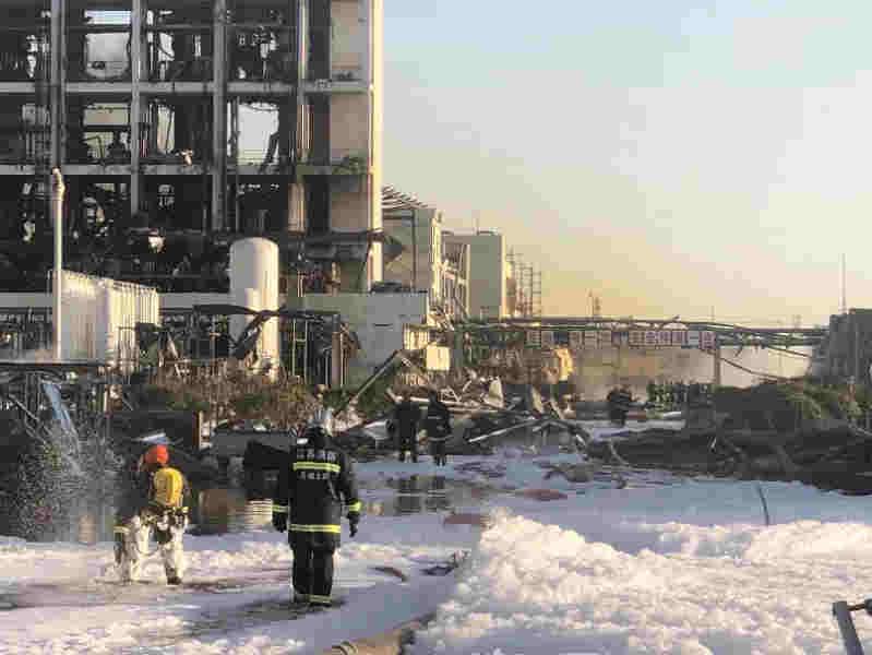 江苏盐城响水化工厂爆炸事故死亡人数升至44人