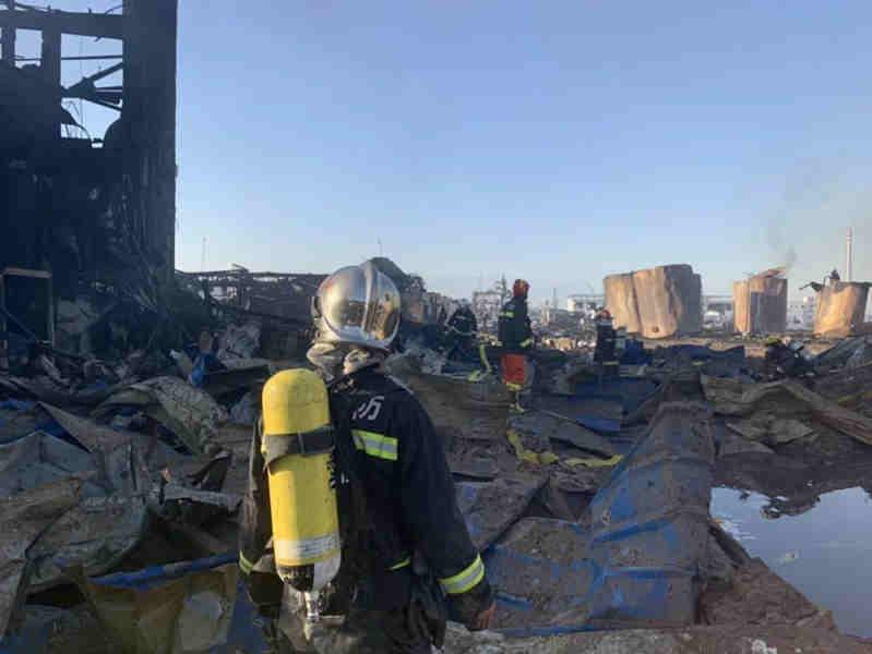 響水爆炸現場已開展六輪搜救 受損校舍維修基本完成