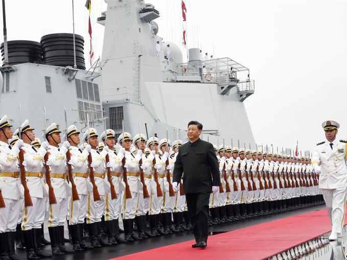 海軍成立70周年海上閱兵在陸戰部隊引起強烈反響
