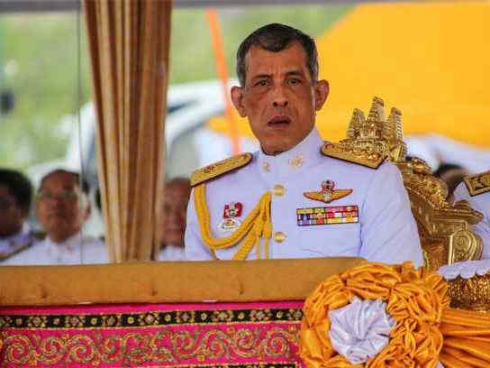泰國國王哇集拉隆功今日將在曼谷接受民眾敬賀