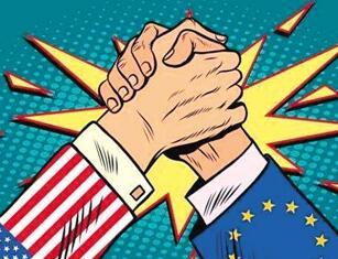 频繁贸易争端撕裂美欧同盟