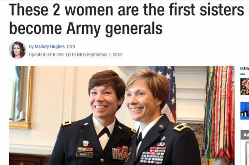 244年來首例!美國陸軍將領中出現一對親姐妹