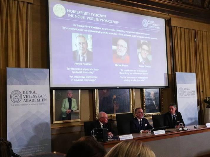 三名科學家分享2019年諾貝爾物理學獎