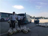 青島一村民上萬斤桃子滯銷,多虧了這個物流幫扶站……