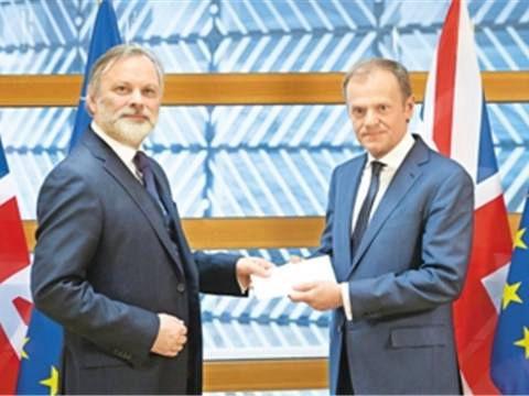 """英两党联合致信欧洲理事会主席以求延期""""脱欧"""""""