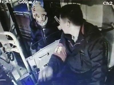 青島5歲男孩一句話溫暖冬日車廂,監控拍下暖心一幕