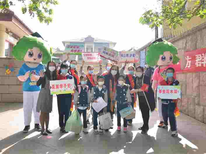 青島市內四區小學一、二年級學生復學