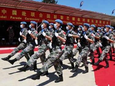 """中國赴黎巴嫩維和部隊官兵被授予聯合國""""和平勛章"""""""