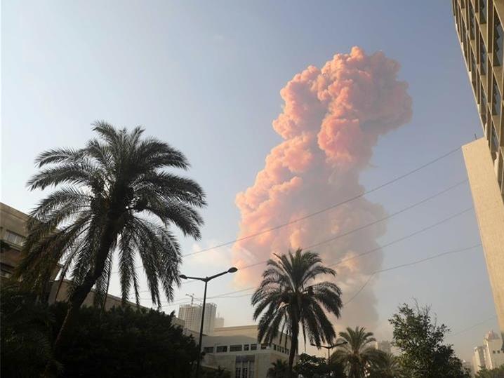 黎巴嫩首都港口區發生爆炸