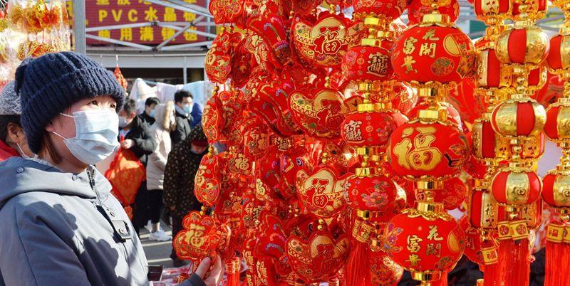 紅紅火火!春節前李村大集人氣旺