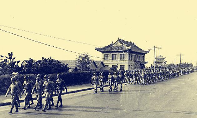 揭秘汇泉跑马场日本投降:日军官呆若木鸡