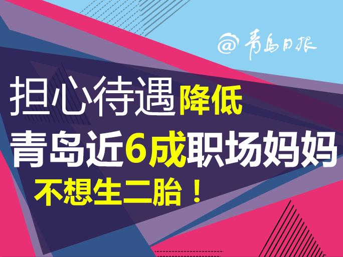 擔心待遇降低,青島近6成職場媽媽不想生二胎!