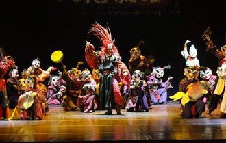 中国非遗舞剧《傩·情》 首次亮相阿尔巴尼亚