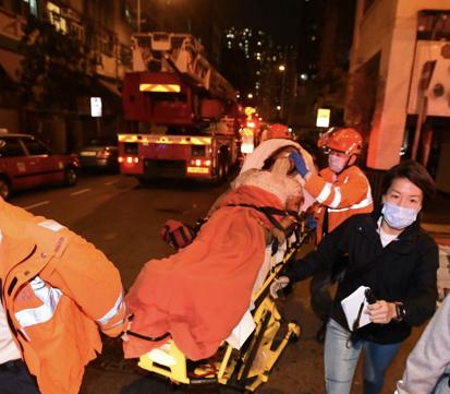 香港油麻地發生火災致最少7人死亡