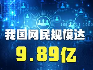 我國網民規模達9.89億,你享受過哪些網絡紅利?