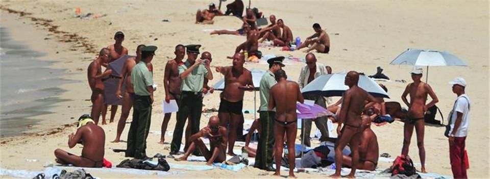 """三亚警方装监控整治""""裸晒"""" 已有2人被拘留"""